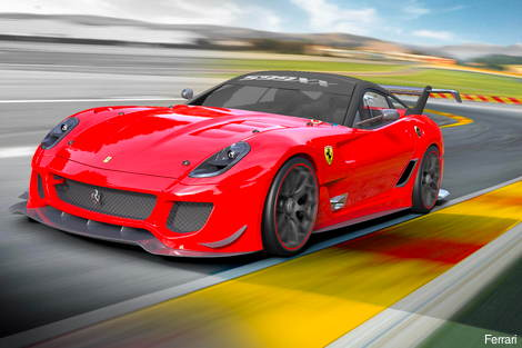 Ferrari 599XX has more power and active aero